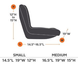 Husqvarna zero turn seat specs