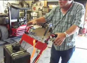 stand on mowers convert to walk behind easily