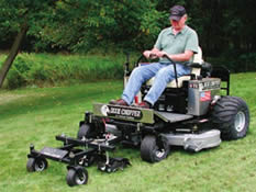 riding mower with addons