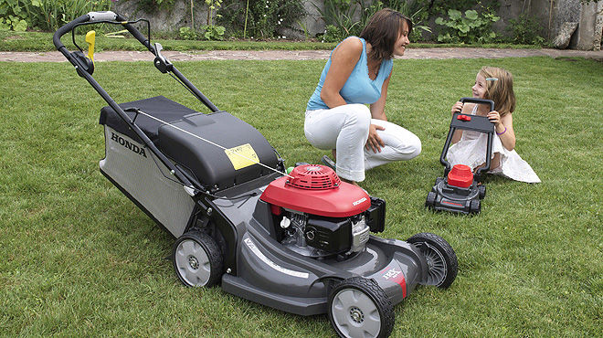 Family friendly lawn mower
