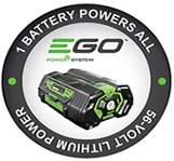 The Ego Power+ battery can be used to power all the products in the Ego Power range!