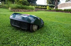 The husqvarna automower leaves a carpet-like finish to a lawn