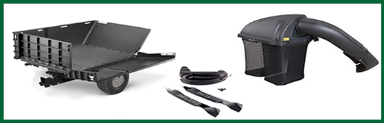 Just some of the Troy Bilt mower accessories that use FastAttach™