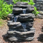small waterfall rock feature