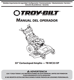 WC33 Operators manual in spanish