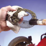 cleaning a snapper lawn mower engine