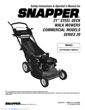 snapper mower operator manual