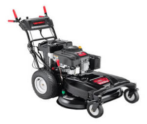 wc33 wide area walk behind from the troy bilt lawn mowers range