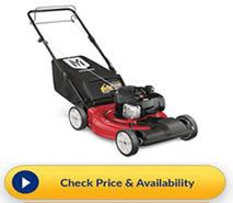 Check the price of the Yard Machine model at Home Depot