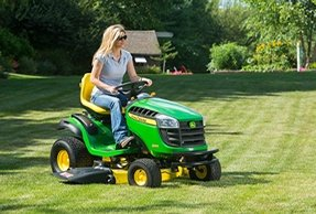 A large lawn requires a powered lawn mower