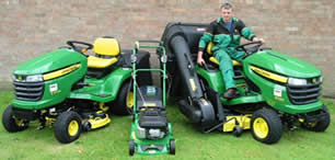 Professional landscaper's commercial lawn mower fleet