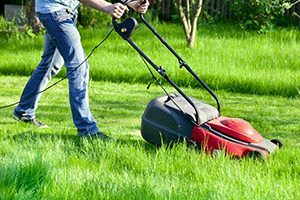 The cord on an electric mower can be a hassle