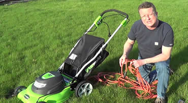 electric mulching mower extension cord