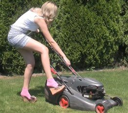 gas mower with pull cord start