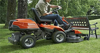 Riding mowers are much easier to manoeuvre