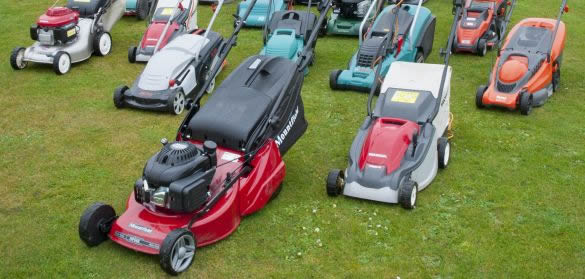 Selection of walk behind lawn mowers