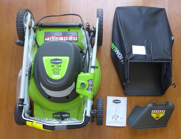The Greenworks mulching mower is very easy to store