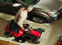 Although powerful the Troy-Bilt's small size makes it easy to store