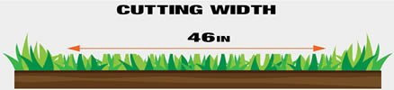 """The Poulan Pro offers a 46"""" cutting width"""