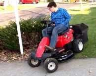 "The Troy-Bilt has an 18"" turning radius"
