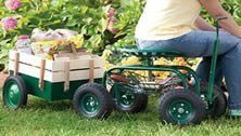 useful garden tools - a low rider pulling a cart