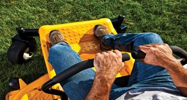 Cub Cadet RZT L uses levers for steering