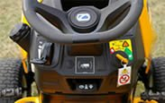 Cub Cadet XT1 steering wheel view