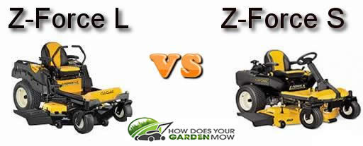 Cub Cadet Z Force L vs S mower