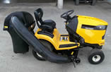 Cub Cadet XT2 with bagger attachment