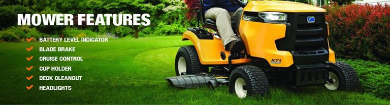 Cub Cadet XT1 feature list