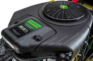 The D125 has a John Deere branded 20 HP engine