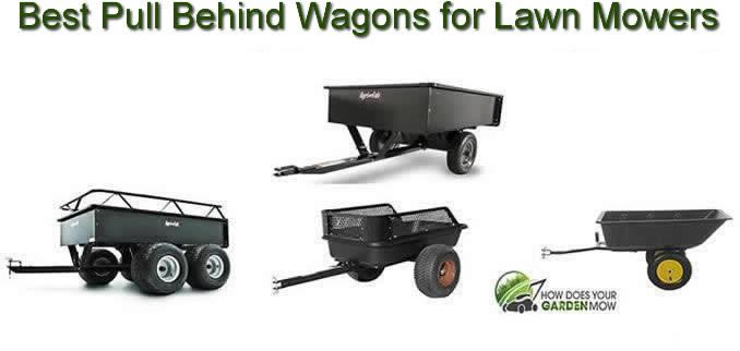 pull behind wagon for lawn mower